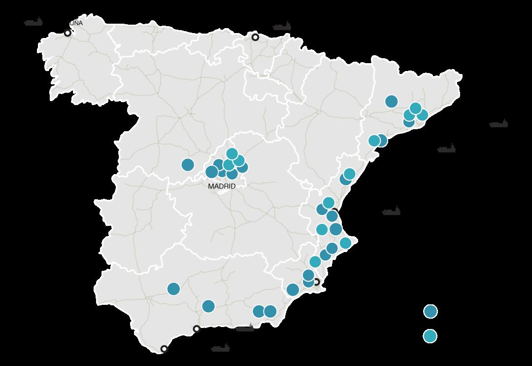 Presencia en España del Grupo Baraka